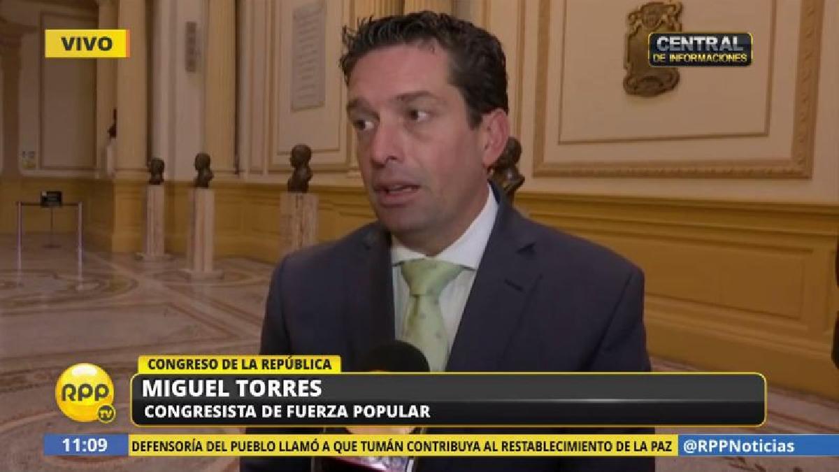 Miguel Torres consideró que Thorne debería renunciar antes de presentarse ante la Comisión de Fiscalización.