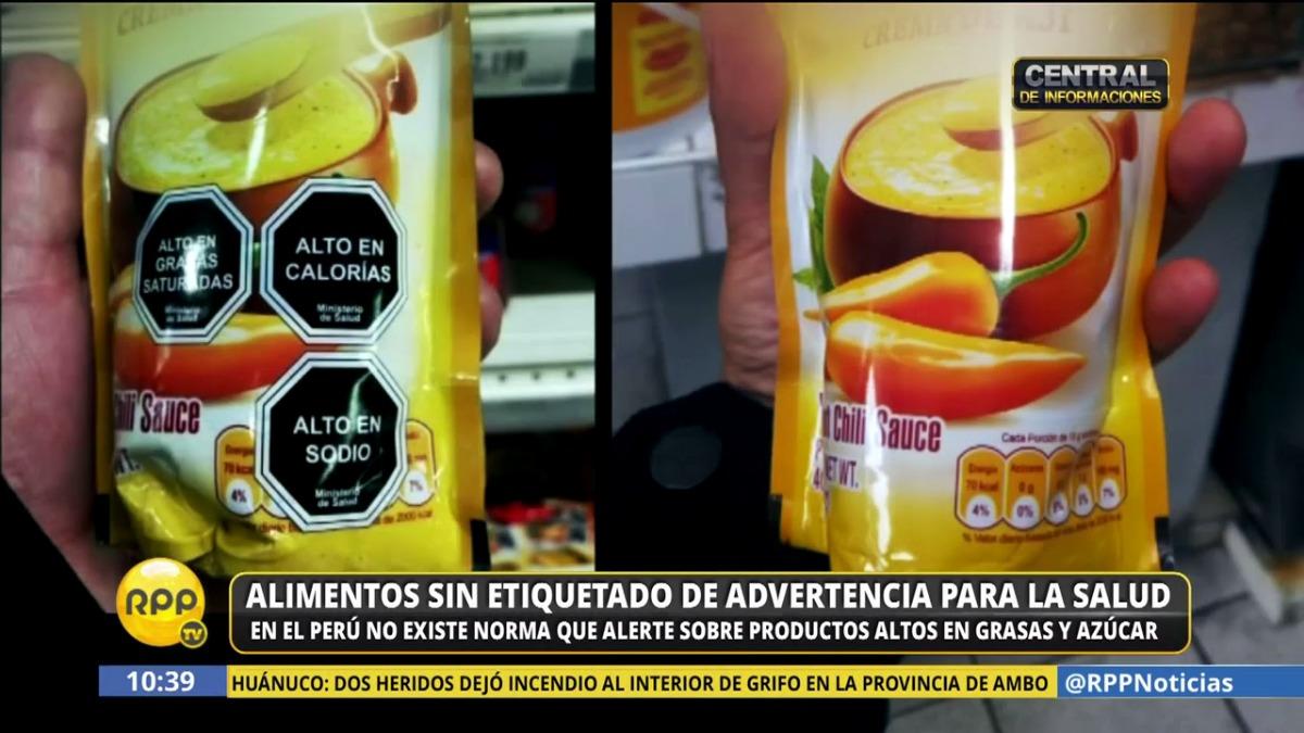 Hay productos que se hacen el país y que se venden en otros países con estos valores nutricionales en el etiquetado.
