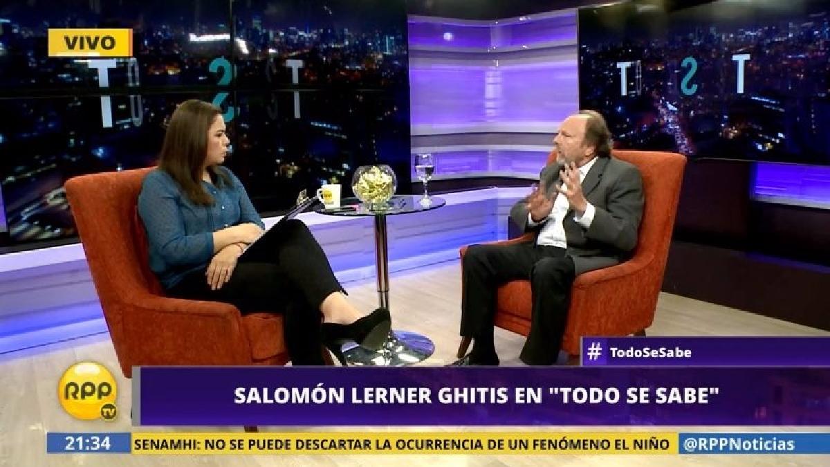 Salomón Lerner Ghitis también se pronunció sobre la posible censura del ministro de Economía y Finanzas, Alfredo Thorne y le recomendó que dé un paso al costado.