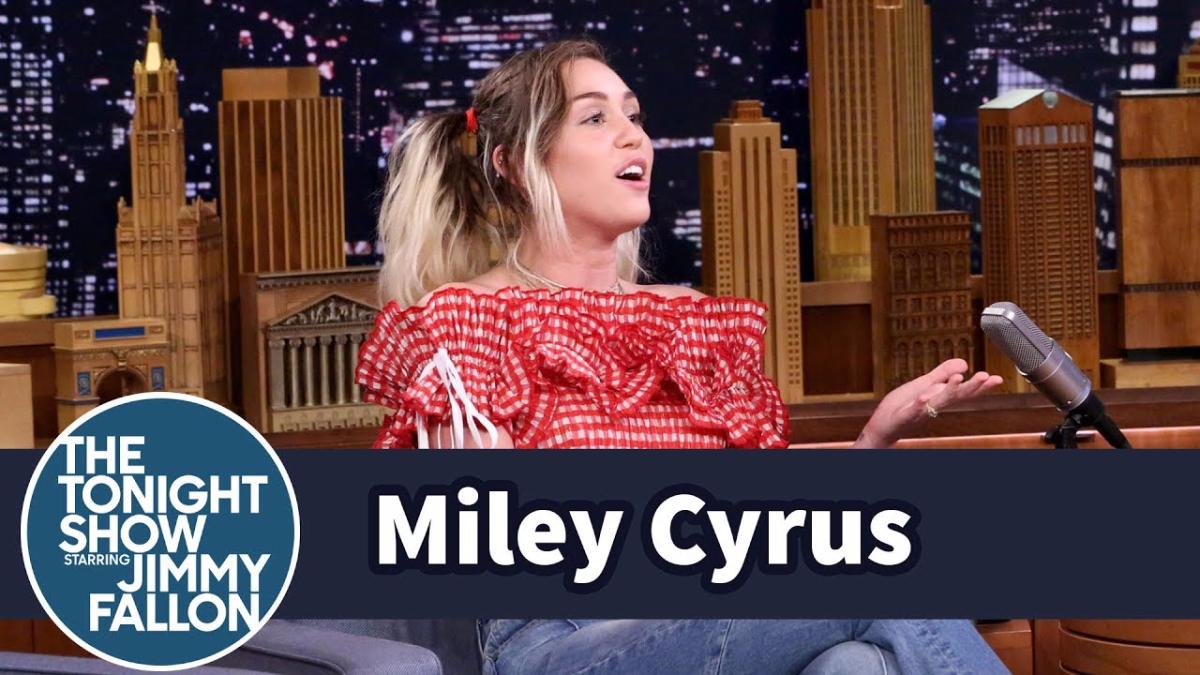 Miley Cyrus se confesó con Jimmy Fallon en una reveladora entrevista.