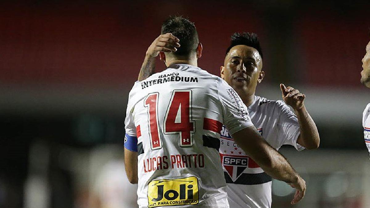 Christian Cueva jugó los 90 minutos del partido entre Sao Paulo y el Atlético Mineiro.