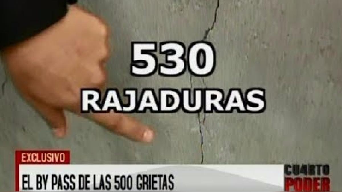 Cuarto Poder contabilizó hasta 530 rajaduras en la obra del Centro de Lima.