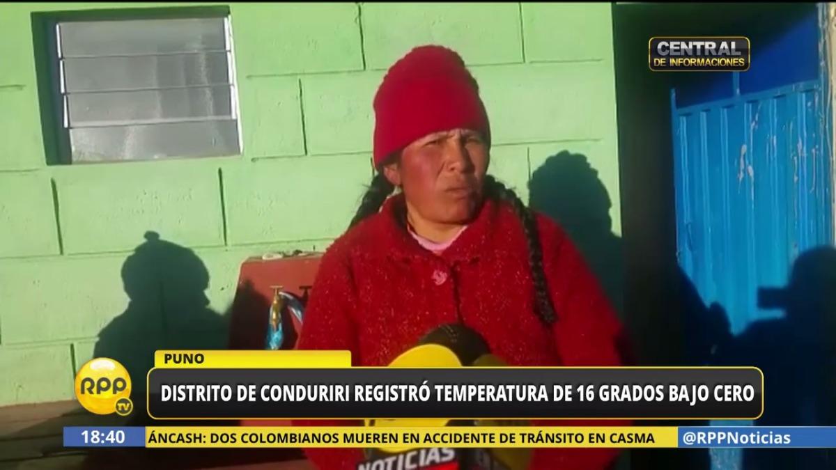Bajas temperaturas en Puno.