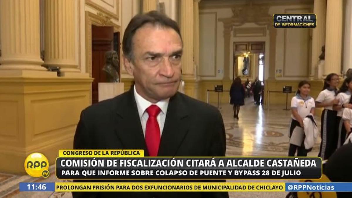 Héctor Becerril informó que la citación a Luis Castañeda será recién en la próxima Legislatura.
