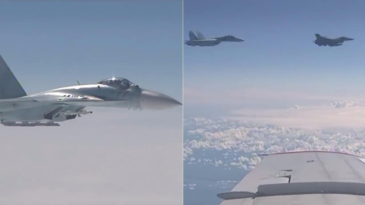 Así fue el incidente entre el caza de la OTAN y los aviones rusos.