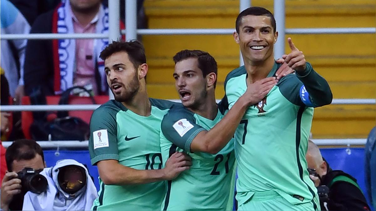 Cristiano Ronaldo marcó su primer gol en la Copa Confederaciones Rusia 2017.
