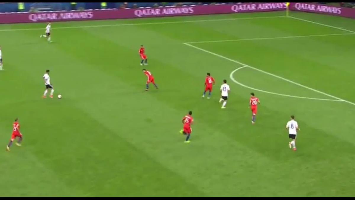 Alemania le empató el partido a Chile a los 41 minutos del partido.