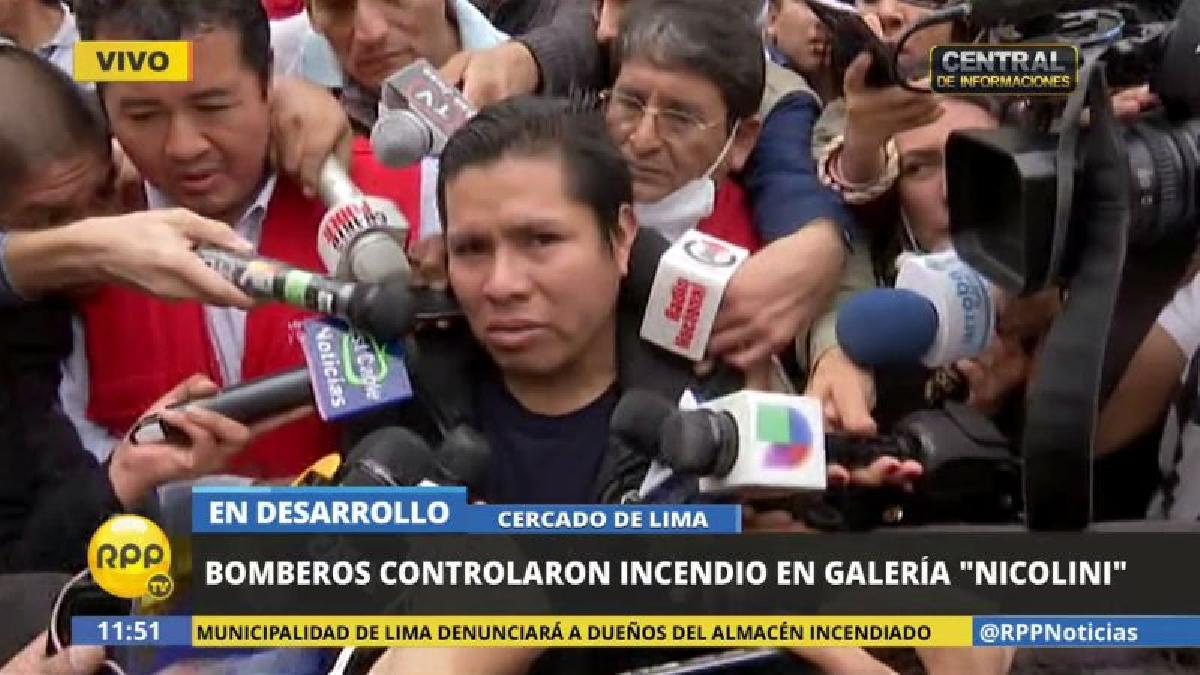 César Herrera contó que su sobrino lo llamó por teléfono al verse atrapado dentro del edificio incendiado.