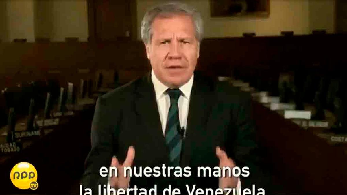 El jefe de la OEA, Luis Almagro, grabó un mensaje en video en respuesta a Nicolás Maduro.