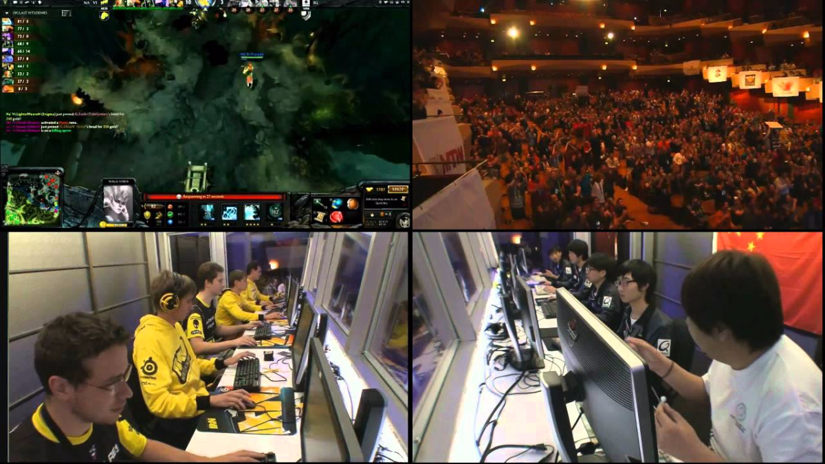 'The Play', uno de los momentos más emocionantes para los eSports en 2012, generó euforia en un teatro.