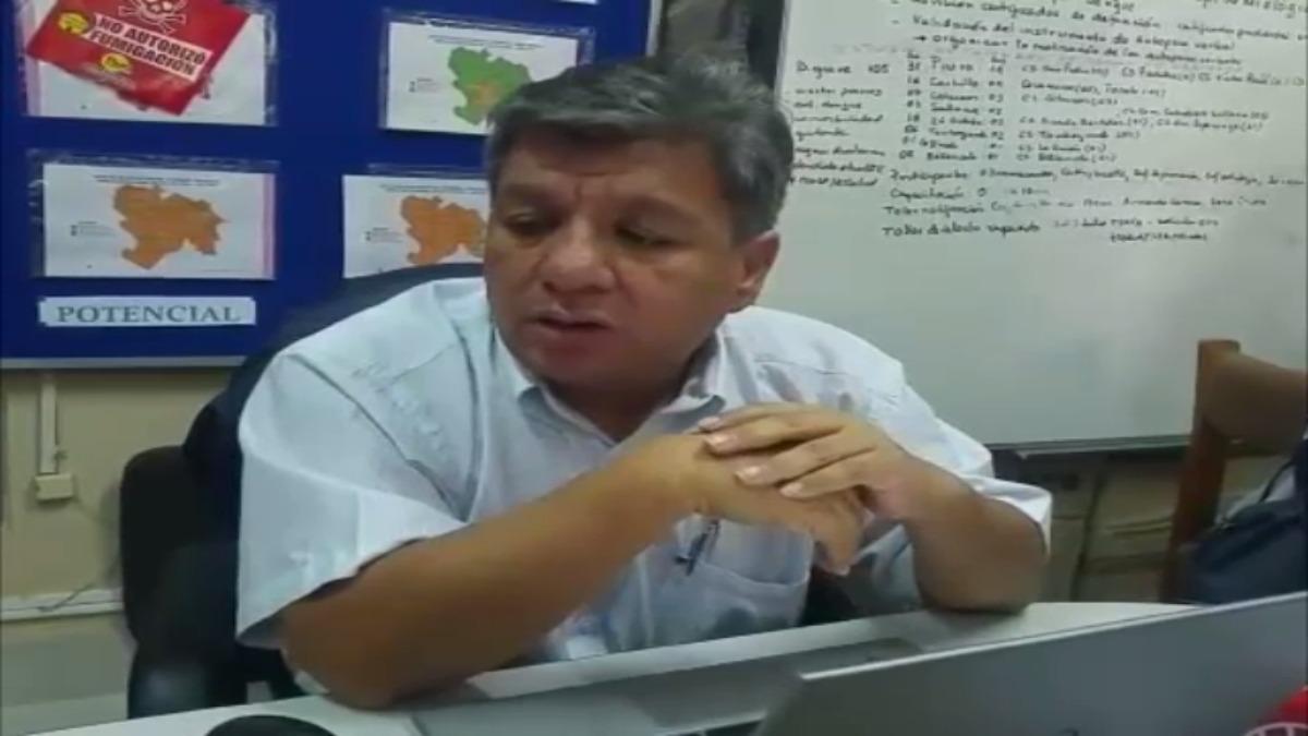 Edward Pozo, jefe de inteligencia sanitaria de Piura.