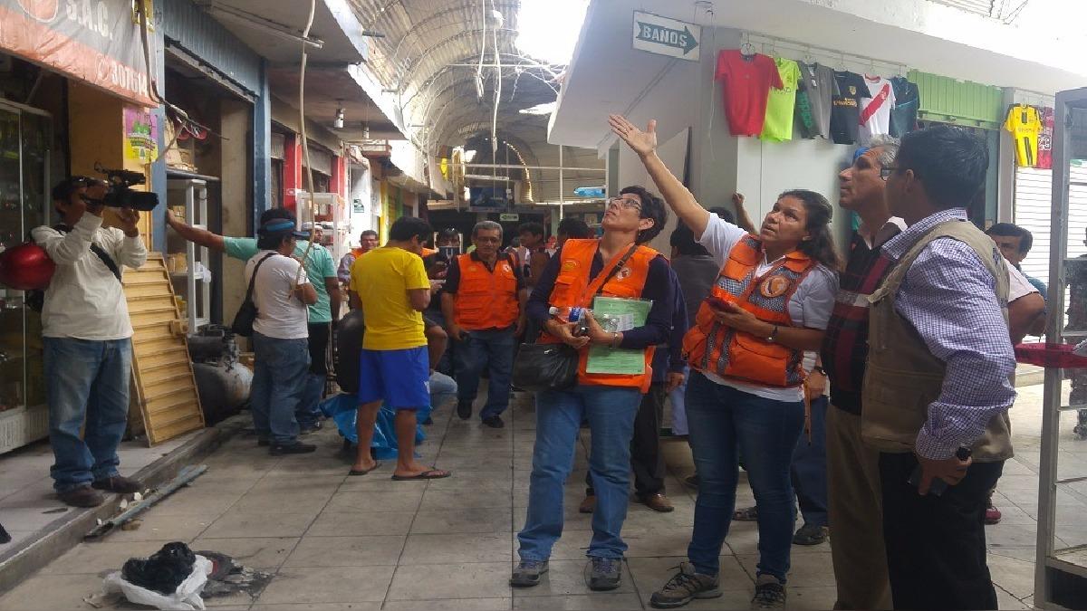 La jefa de la Oficina de Defensa Civil anunció que realizarán visitas inopinadas en Complejo de Mercados de Piura.