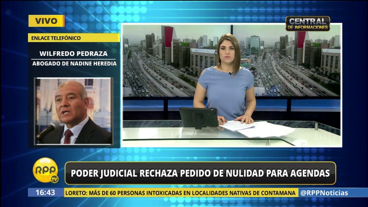 El abogado de Nadine Heredia explicó el caso en RPP Noticias.