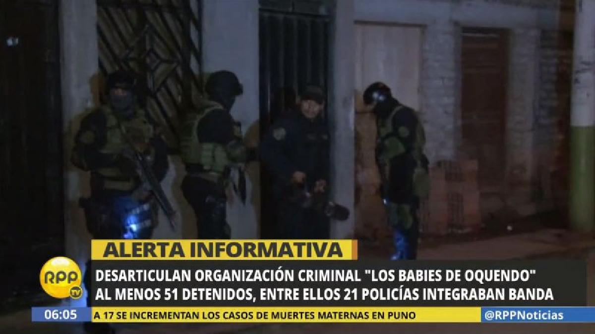 La banda criminal estaba integrada por al menos 21 policías en actividad.