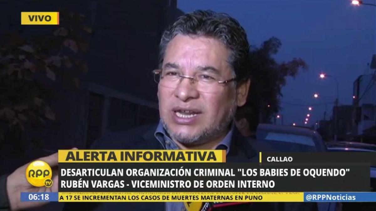 """""""La Policía quiere limpiar su casa"""", destacó el viceministro de Orden Interno, Rubén Vargas."""