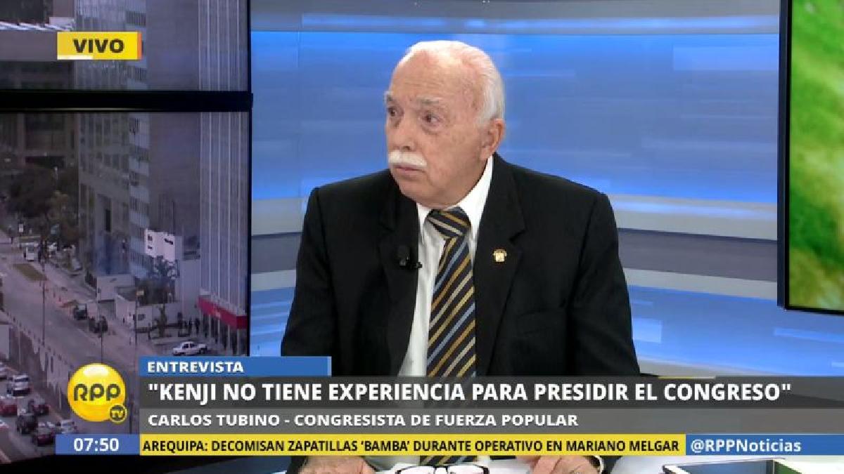 Carlos Tubino dijo que no votaría por Kenji Fujimori si este decide postular a la Presidencia del Congreso.