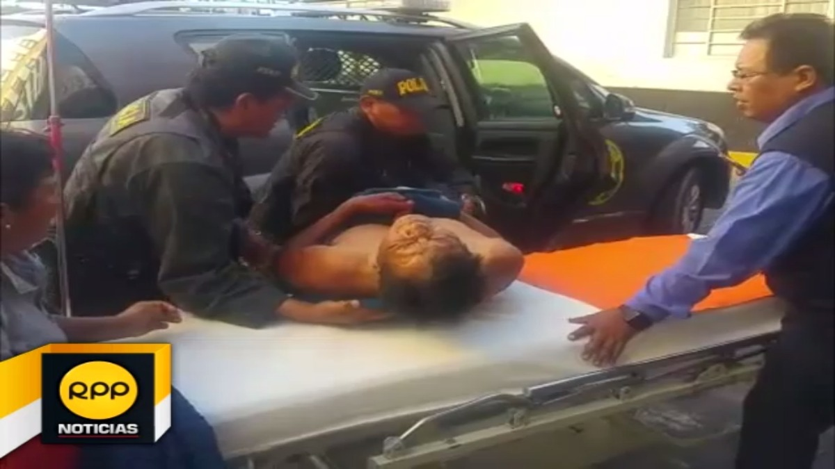 Marcos Nina Luque (56), presenta heridas de hasta 8 cm. de profundidad.