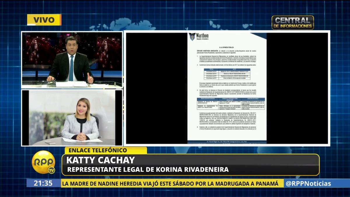 Katty Cachay, representante legal de Korina.