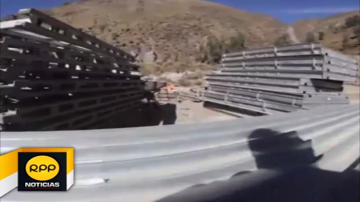 Material que será usado para edificar estructura en quebrada Canchihuayco se encuentra a la intemperie y sin vigilancia.