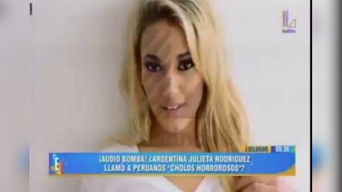 Julieta Rodríguez fue investigada luego de estos audios.