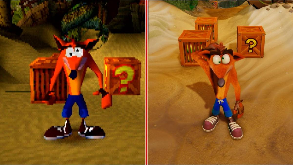 Acá una comparativa entre el juego original y su reedición, lanzada 20 años después.