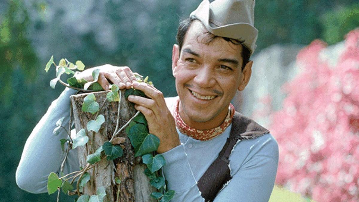 Cantinflas rodando una película.