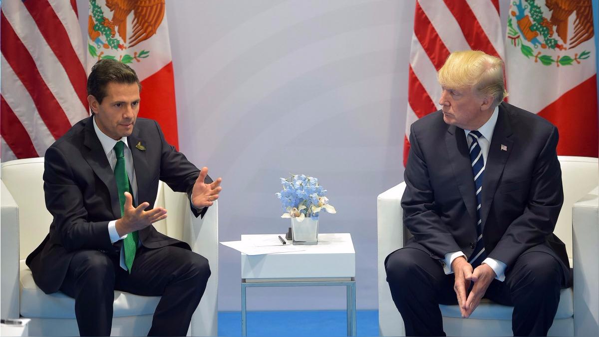 El encuentro entre Peña Nieto y Trump fue abierto a la prensa.