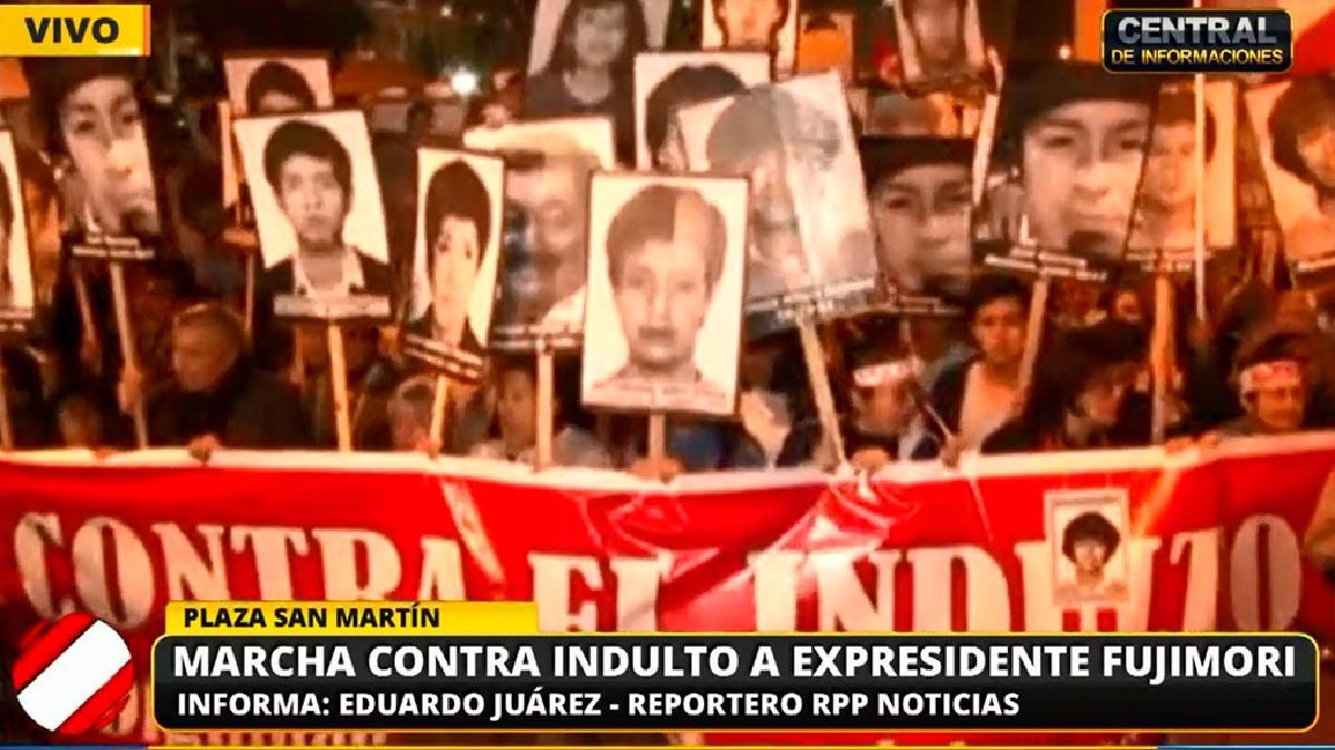 La marcha recorrió el centro de Lima.
