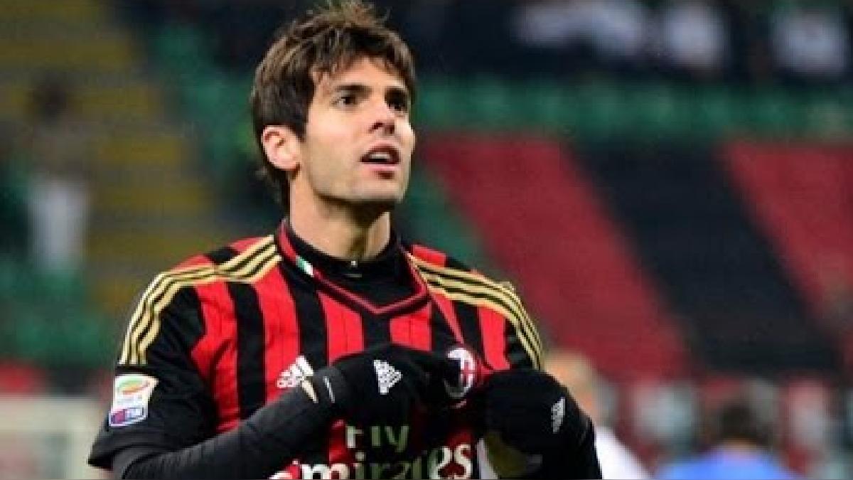 Kaká ganó el Balón de Oro cuando jugaba en el AC Milan en 2007.