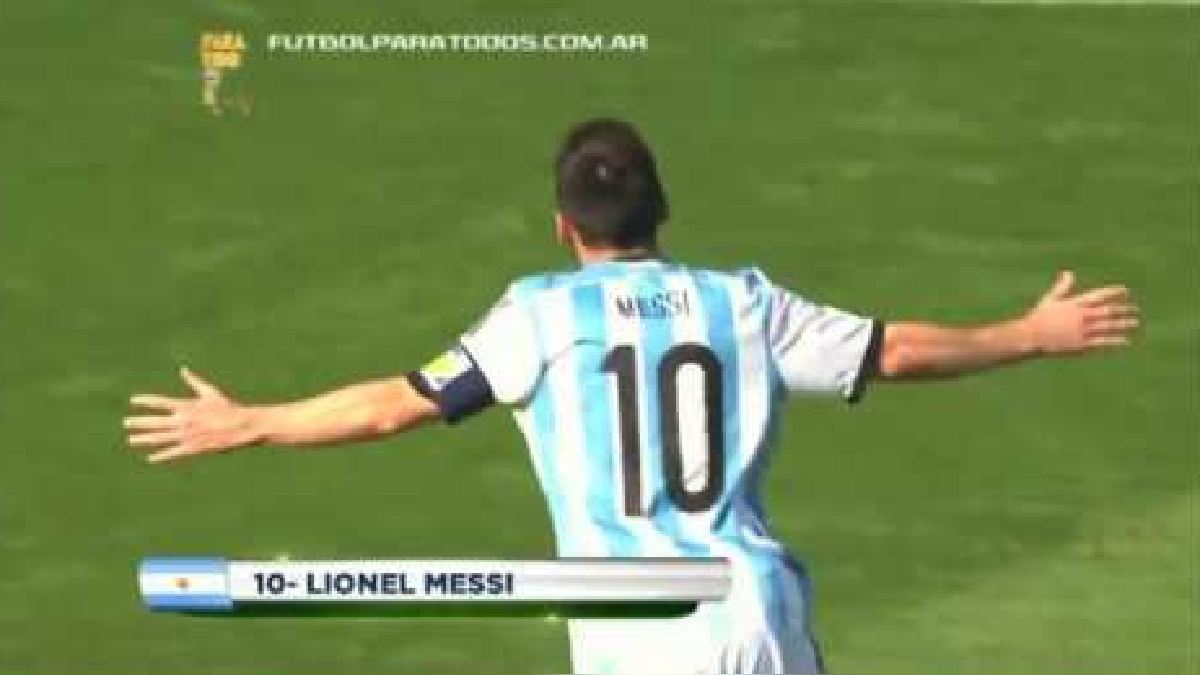 Revisa todos los goles que anotó Lionel Messi en el Mundial Brasil 2014.
