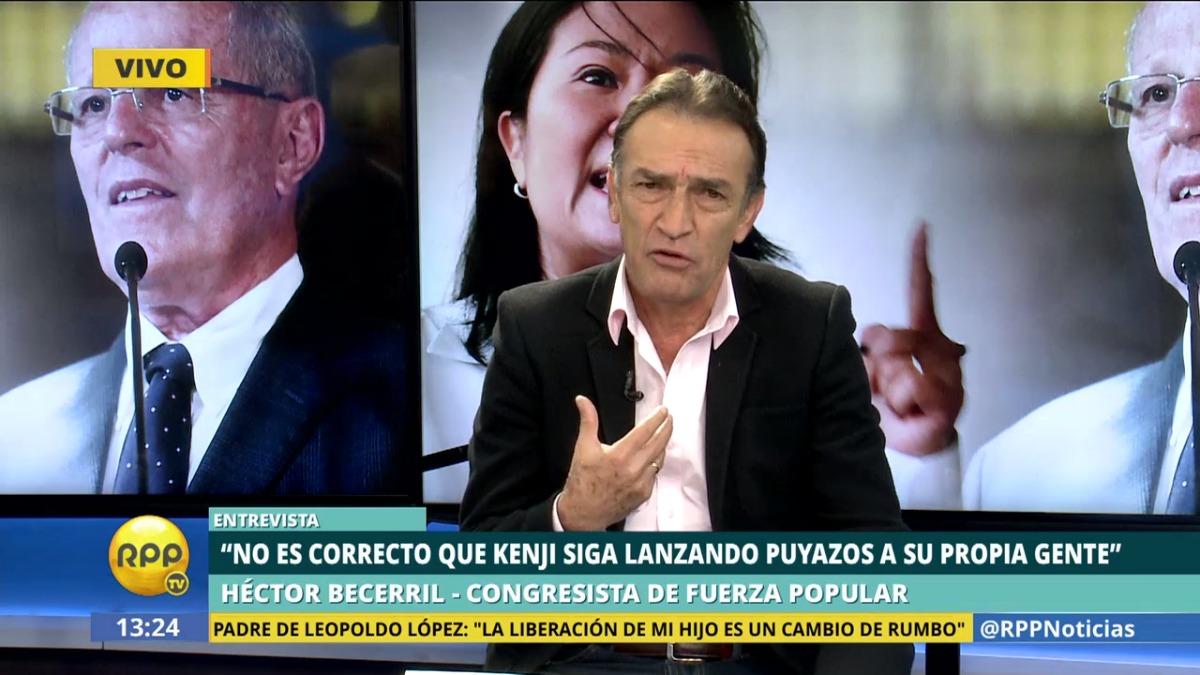 Héctor Becerril criticó las declaraciones de Kenji Fujimori, que según él le hacen daño a su partido.