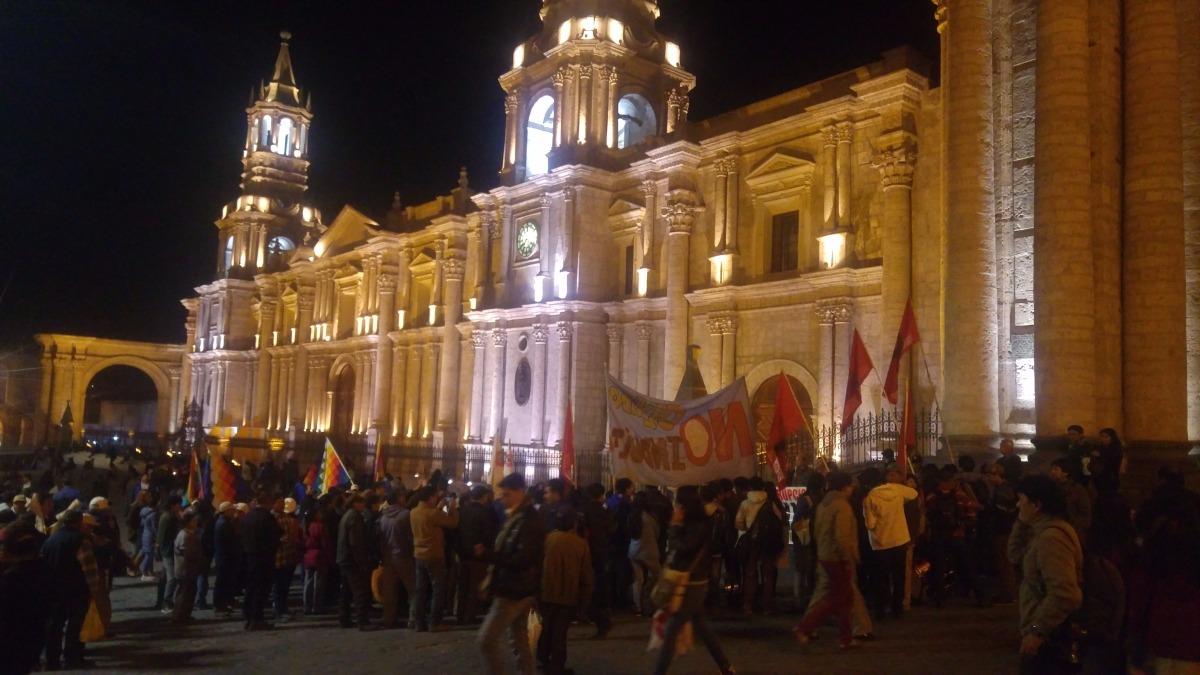 Los manifestantes recorrieron diversas calles del Centro Histórico.