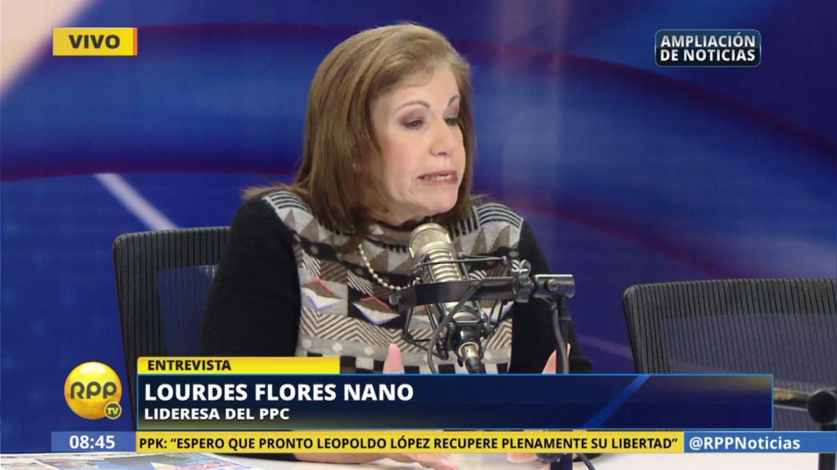 Lourdes Flores sobre la excarcelación de Fujimori