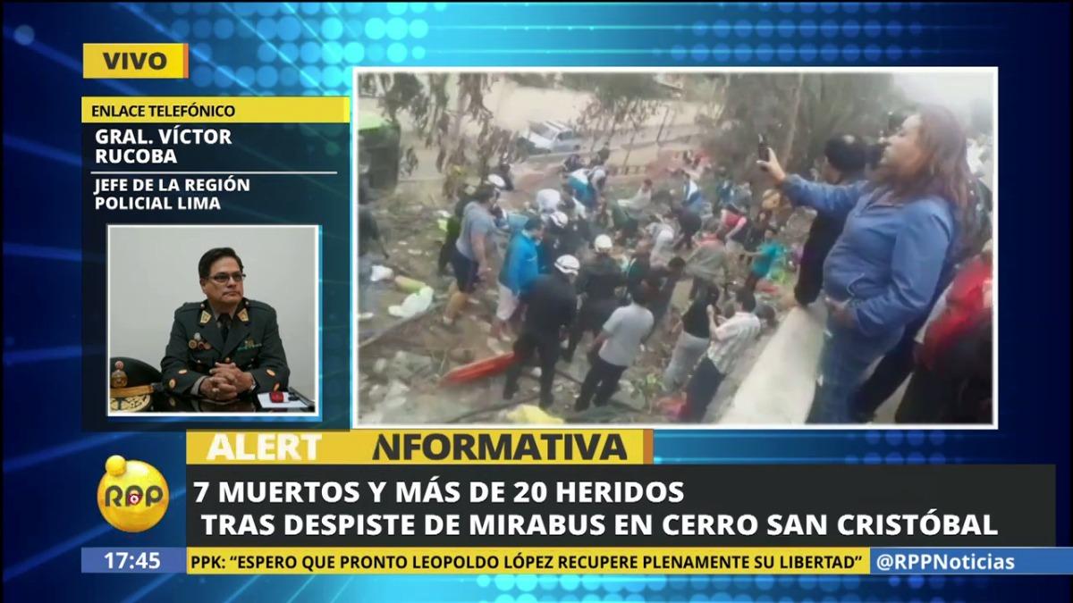 Las autoridades policiales confirmaron ocho muertos. Todos los heridos ya son atendidos en hospitales de Lima.