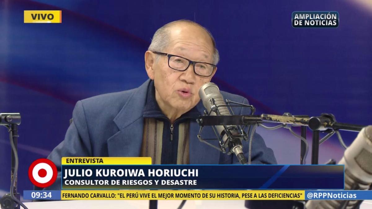 El sismólogo Julio Kuroiwa señaló que Perú aún no está preparado para reaccionar frente a un terremoto.