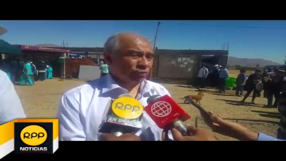 Gerente de Salud de Arequipa, Gustavo Rondón.