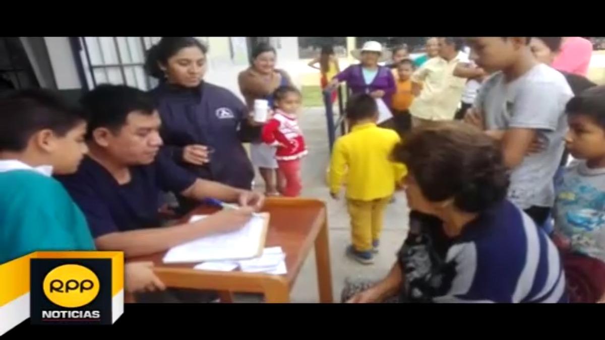 Campaña de desparasitación en Chiclayo.