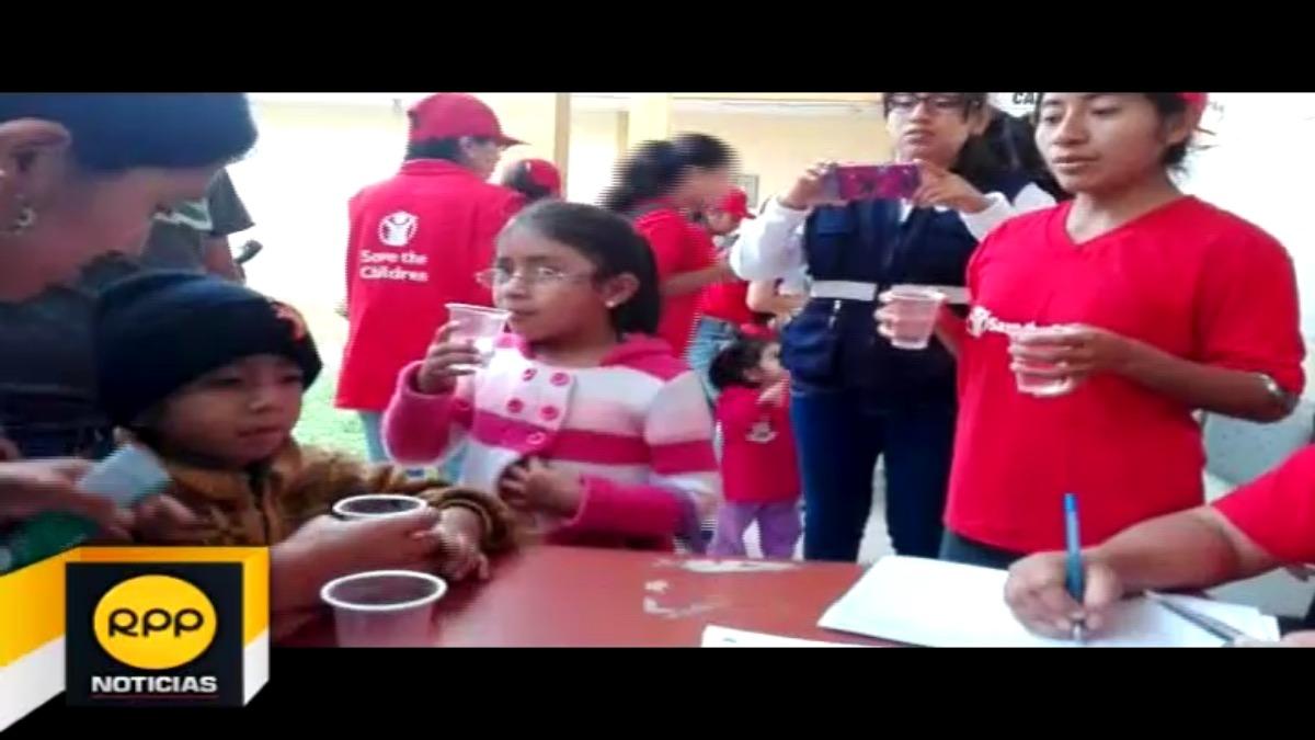 Campaña de desparasitación en Catacaos.