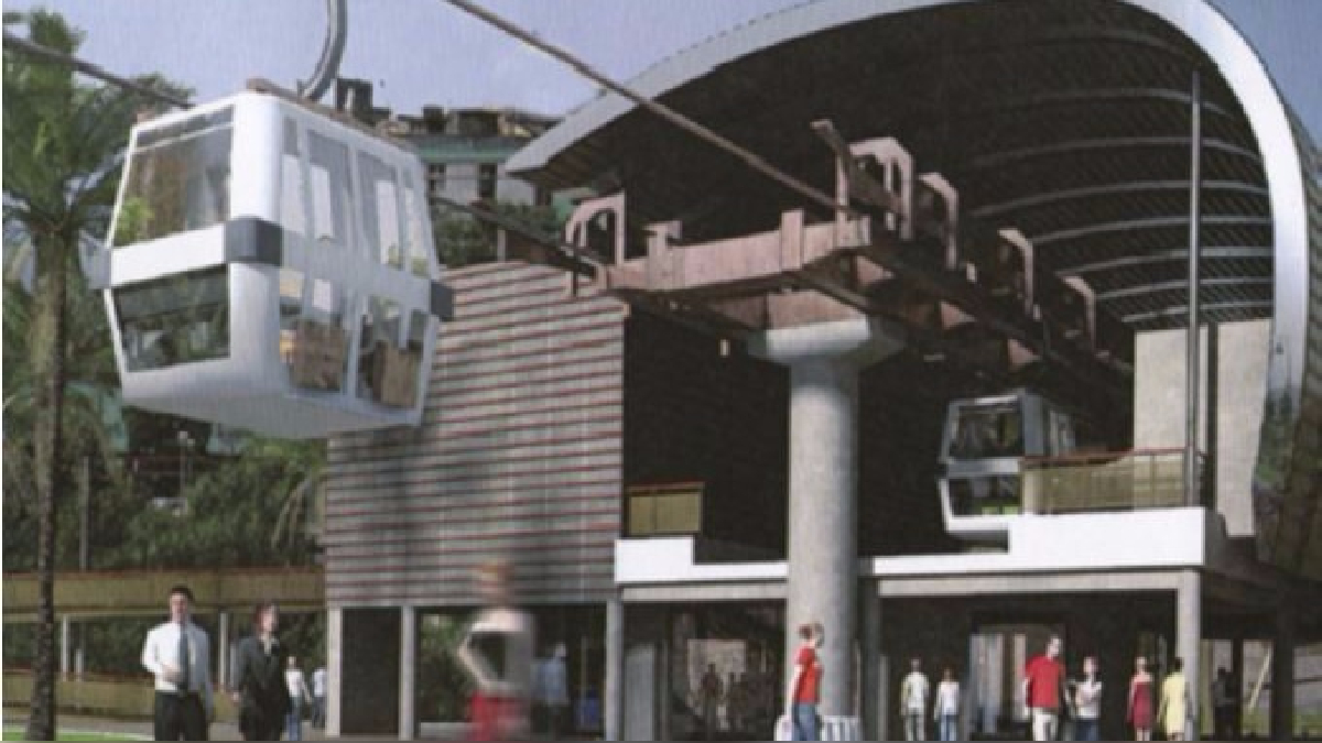 Así era el Teleférico de Lima.
