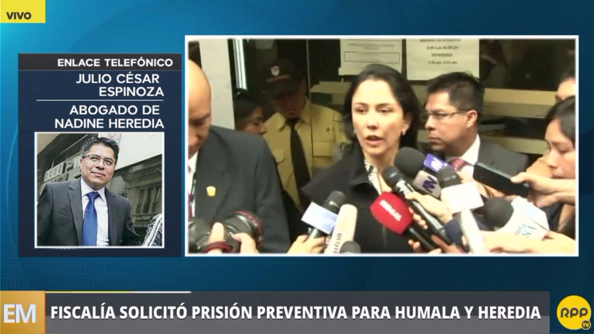 Fiscalía solicitó prisión preventiva para Ollanta Humala y Nadine Heredia.