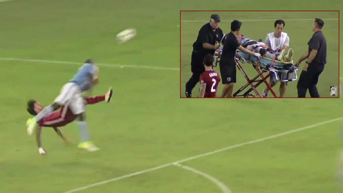 Futbolista argentino mandó a rival al hospital con un fallido intento de chilena.