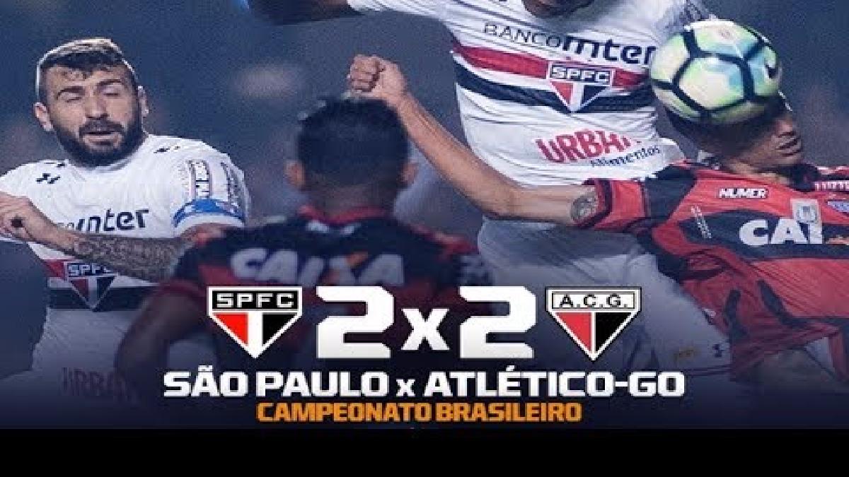 El resumen del empate 2-2 de Sao Paulo y Atlético Goianiense.