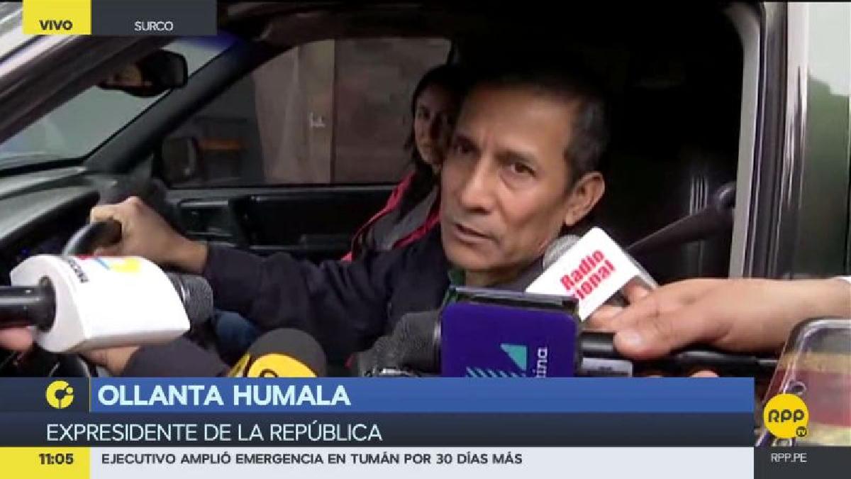 """Ollanta Humala consideró que el fiscal del caso se basa en """"conjeturas"""" para pedir la prisión preventiva."""