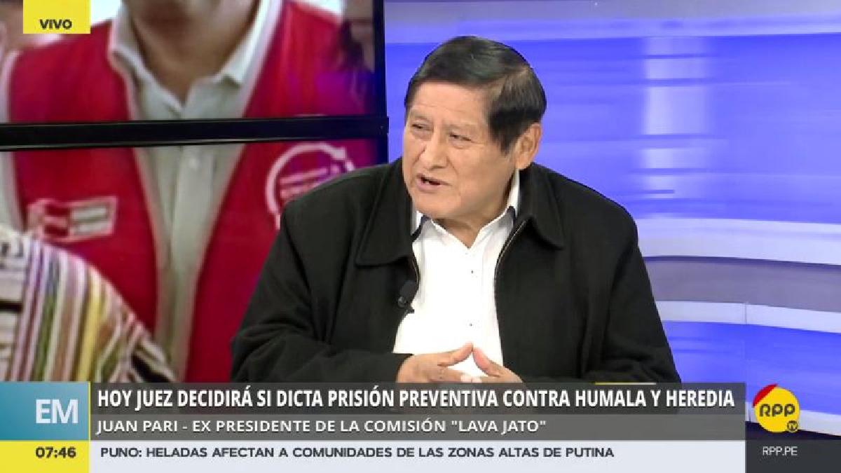 Juan Pari criticó que se haya renunciado a allanar las oficinas de Odebrecth en el Perú.