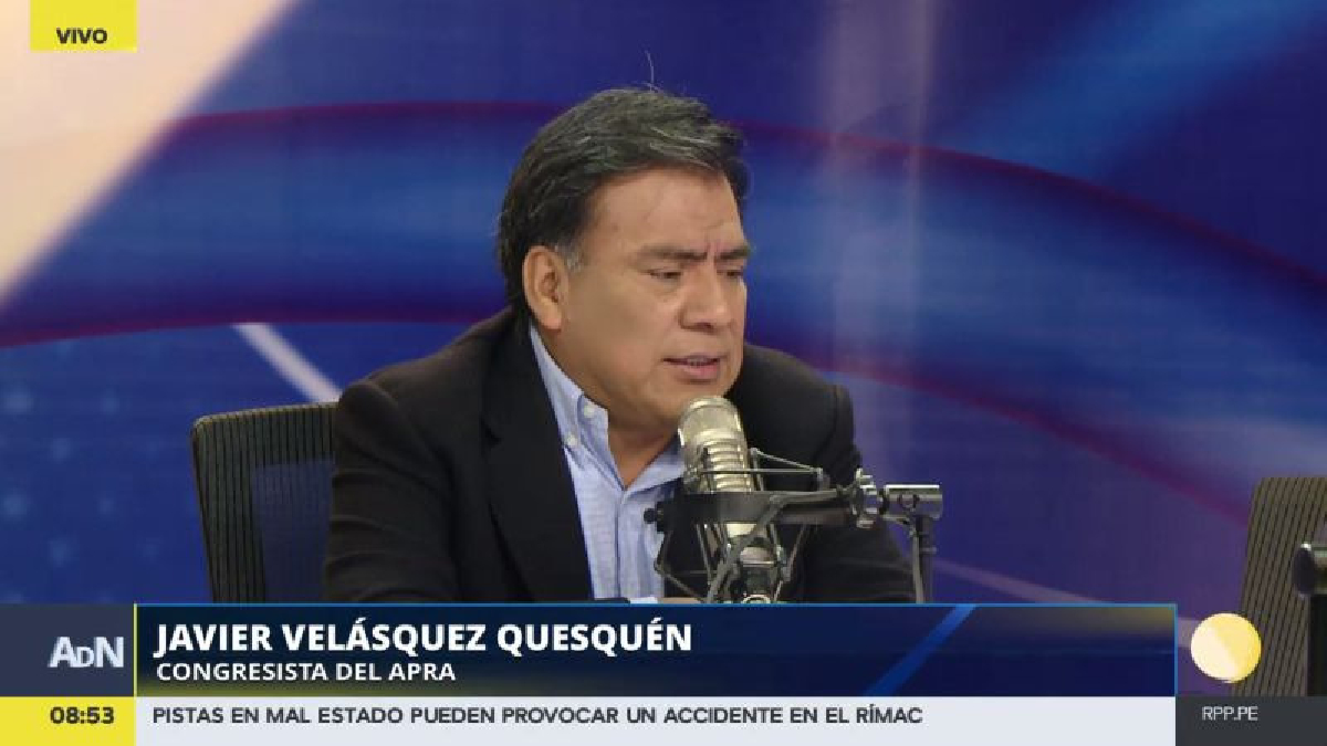 Javier Velásquez respondió en RPP Noticias a los rumores que lo ponen como reemplazante de Fernando Zavala.