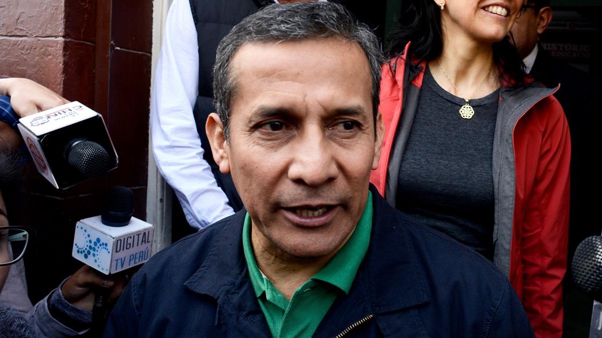 Ollanta Humala horas antes de que se entregue al Poder Judicial. Pedraza contó que habló con él y Heredia en la carceleta del Inpe.