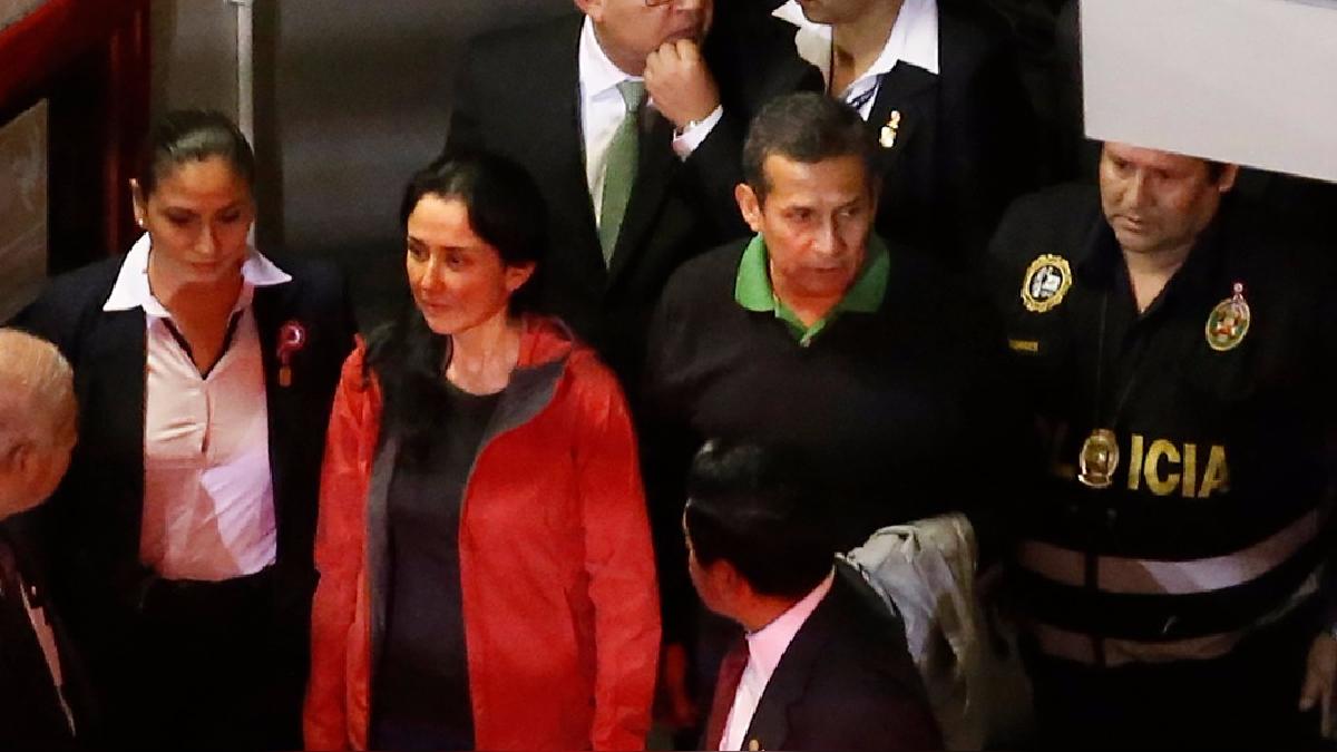 El Poder Judicial ordenó 18 meses de prisión preventiva para Ollanta Humala y Nadine Heredia.