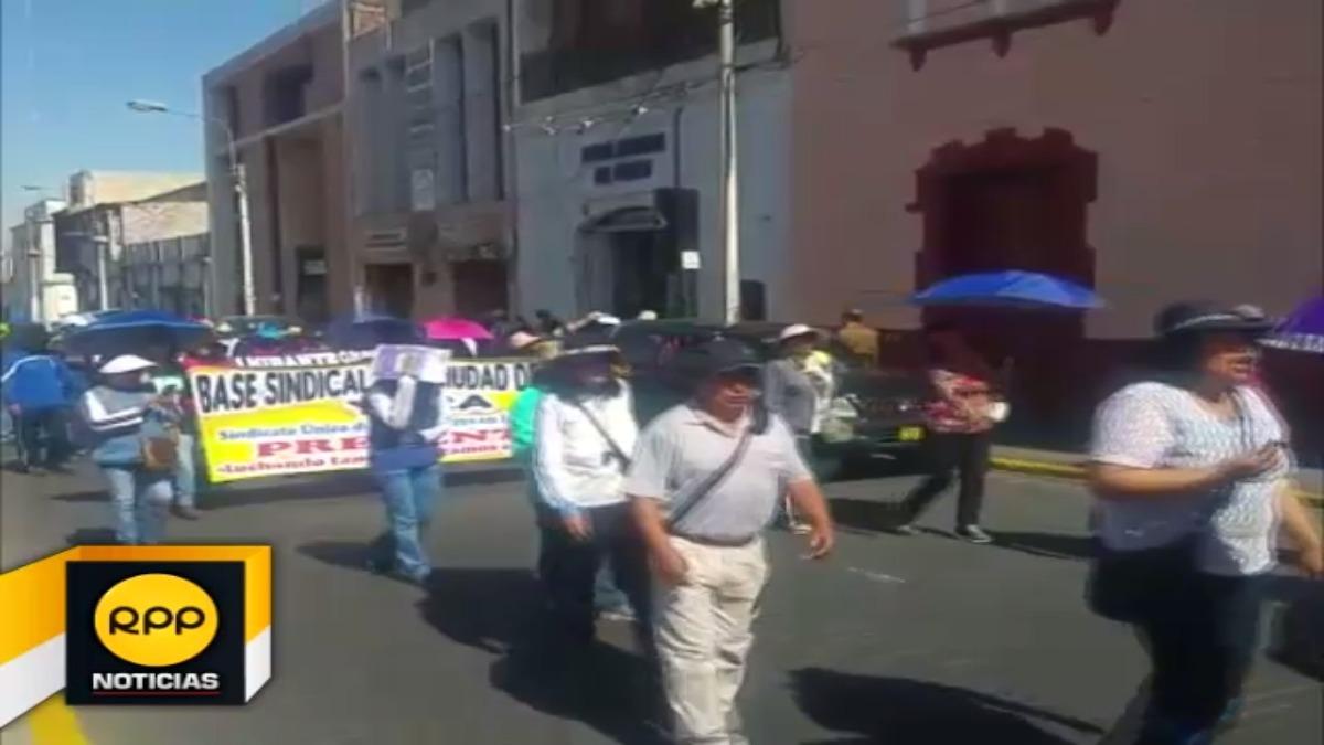 Hoy se movilizaron por el centro de la ciudad.