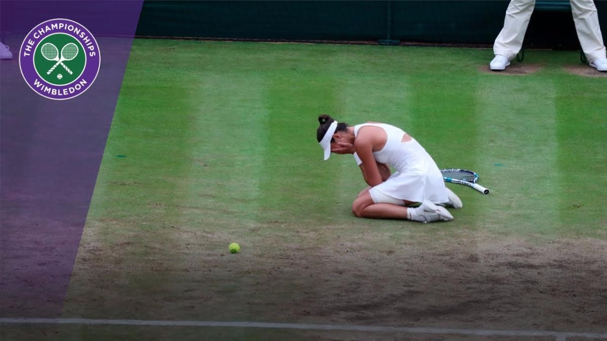 Revive el punto que le dio el triunfo a Garbiñe Muguruza contra Venus Williams.