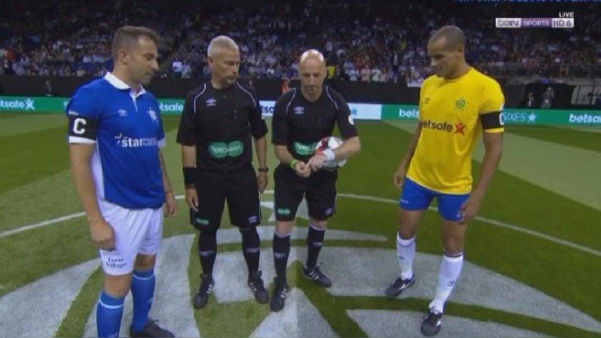 Del Piero y Rivaldo son los capitanes de Italia y Brasil, respectivamente.